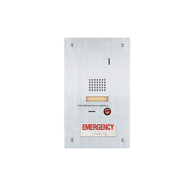 Aiphone IS-SS-RA-R IS-RCU compatible Door Station with Emergency Call Button, Flush Mount, Stainless Steel