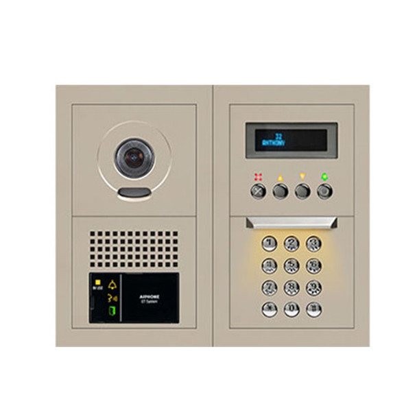 Aiphone GTV-DES202B 10-Key Video Entrance Panel Kit, 2x2 Size