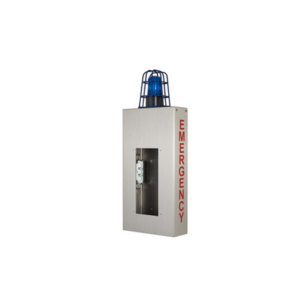 Aiphone WB-CE Wall Box with Caged Light and EMERGENCY Lettering