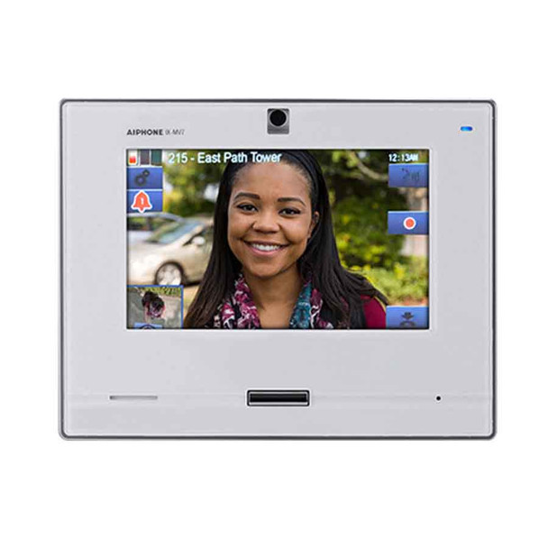 """Aiphone IX-MV7-W SIP Compatible IP Video Master Station - 7"""" Touchscreen and Hands-free (White)"""