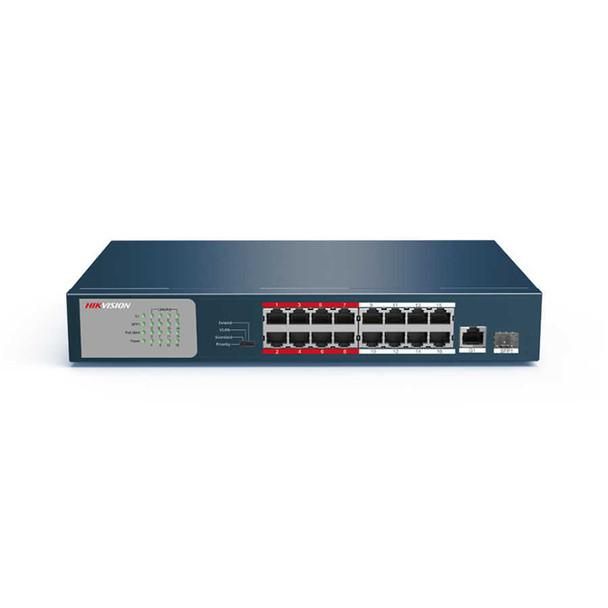 Hikvision DS-3E0318P-E/M 16 Channel Unmanaged PoE Switch