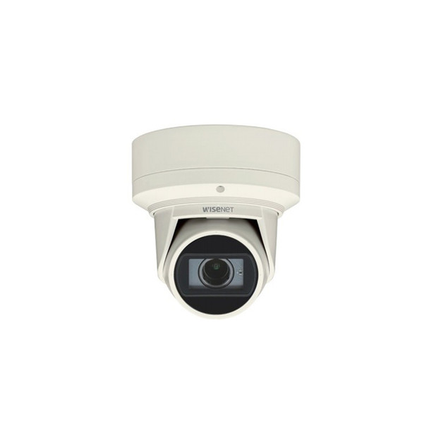 Samsung QNE-7080RVW 4MP IR H.265 Outdoor Flateye IP Security Camera (White Color)