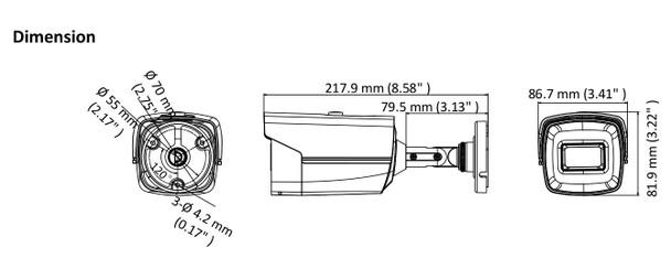 LTS CMHR9252WE-28F 5 MP IR Ultra-low-light Bullet HD-TVI Security Camera