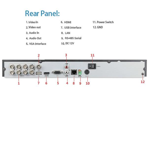 LTS LTD8308K-ETC-2TB 8-Channel H.265+ HD-TVI Digital Video Recorder - 2TB HDD included,Compact