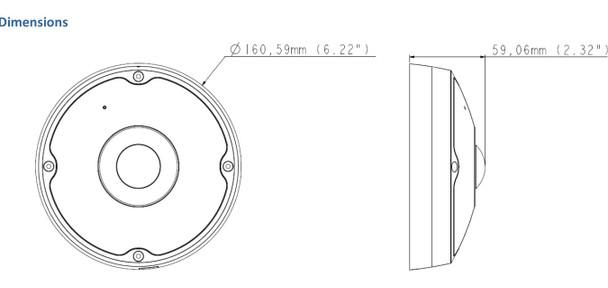 Geovision GV-FER5701 5MP IR H.265 Outdoor Fisheye IP Security Camera