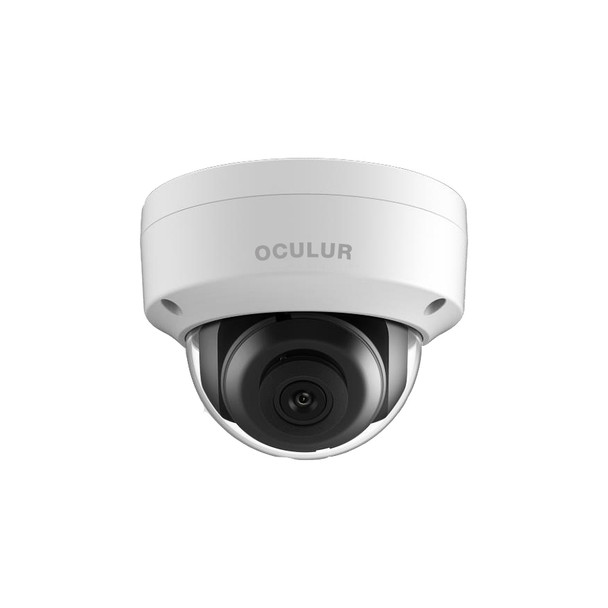Oculur X4KDF4 8MP H.265+ Outdoor Dome IP Security Camera with 4mm Fixed Lens and Audio IO