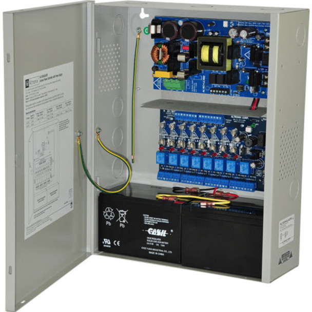 Altronix AL1024ACM220 Access Power Controller with Power Supply/Charger - 8 Fused Relay Outputs