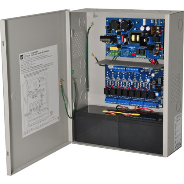 Altronix AL600ACMCB220 Access Power Controller with Power Supply/Charger - 8 PTC Class 2 Relay Outputs