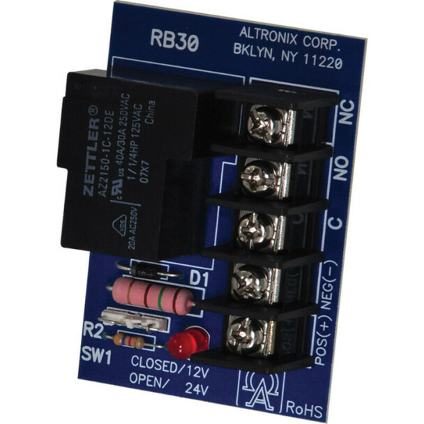 Altronix RB30 Relay Module - 12/24VDC