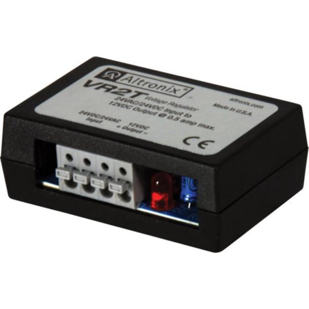 Altronix VR2T Voltage Regulator - Converts 24VAC/VDC to 12VDC @ .5A