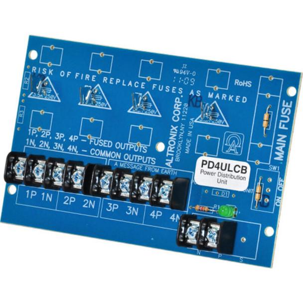 Altronix PD4ULCB Power Distribution Module - 4 PTC Outputs