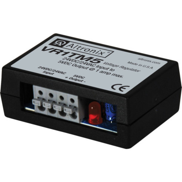 Altronix VR1TM5 Voltage Regulator - Converts 16-24VAC or24VDC to 5VDC @ 1A