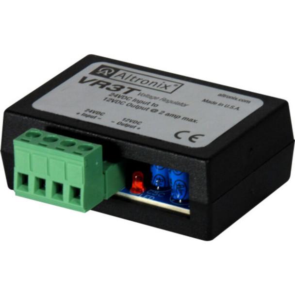 Altronix VR3T Voltage Regulator - Converts 24VDC to 12VDC @ 2A