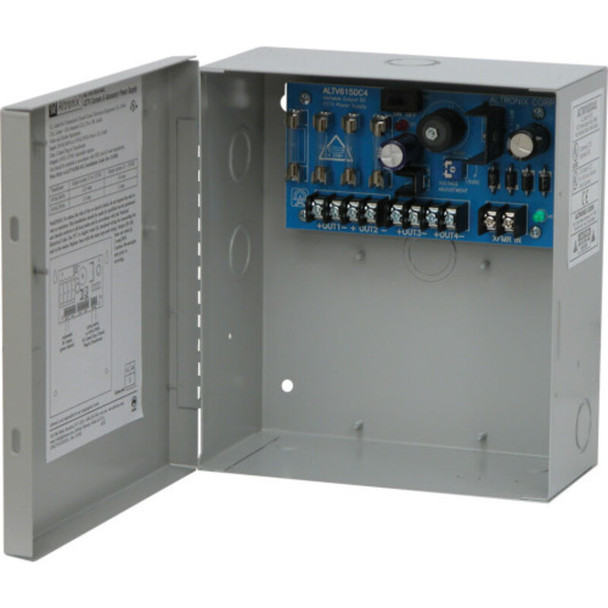 Altronix ALTV615DC4220 CCTV Power Supply - 4 Fused Class 2 Outputs