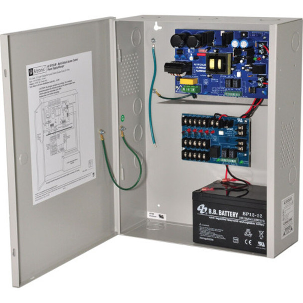 Altronix AL1012ULM Access Power Distribution Module with Power Supply/Charger - 5 PTC Class 2 Outputs