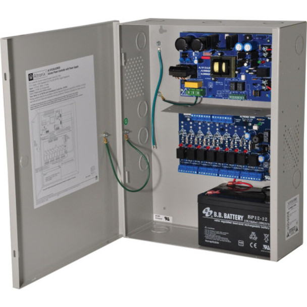 Altronix AL1012ACMCB220 Access Power Controller with Power Supply/Charger - 8 PTC Class 2 Relay Outputs