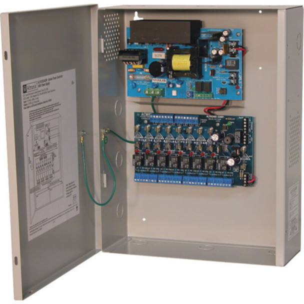 Altronix AL1012ULACM Access Power Controller with Power Supply/Charger - 8 Fused Relay Outputs