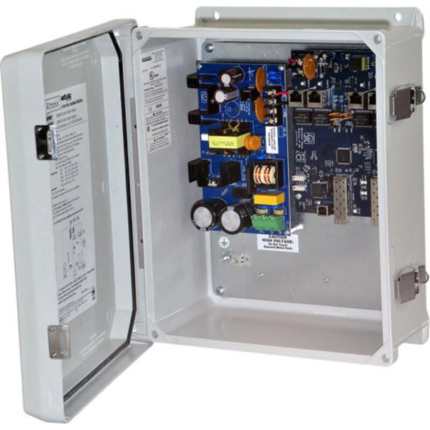 Altronix NetWaySP4WP Dual 1G Fiber SFP - 4 port 10/100/1000 PoE/PoE+ configurable for 2x 60W Hi-PoE; Hardened