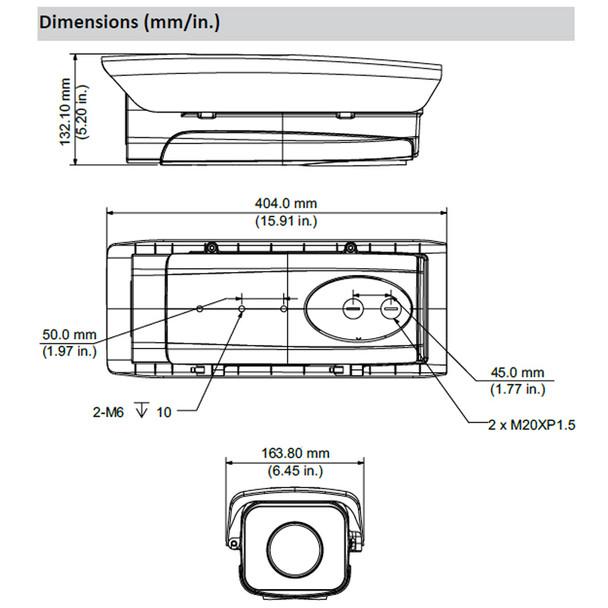 Dahua DHI-ITC237-PU1B-IR 2MP IR LPC Bullet IP Security Camera - License Plate Capture