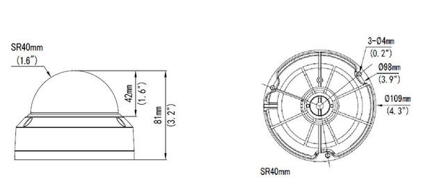 Geovision GV-ADR4702 4MP IR H.265 Outdoor Mini Dome IP Security Camera