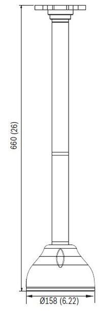 Bosch VDA-70112-PMT Pendant Pipe Mount Bracket