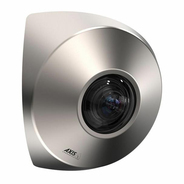 AXIS P9106-V 3MP Indoor Corner IP Security Camera, Brushed Steel - 01553-001
