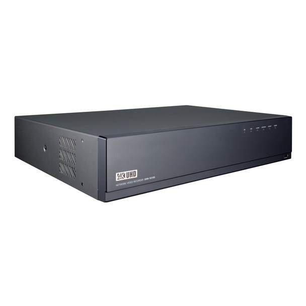 Samsung Hanwha XRN-1610SA 16 Channel 4K H.265 NVR with PoE Switch without HDD