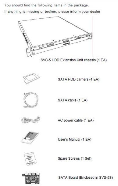Samsung Hanwha SVS-5E-1TB HDD Extension Unit
