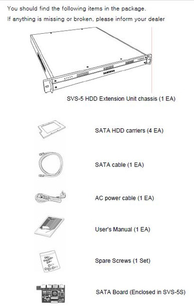 Samsung Hanwha SVS-5E HDD Extension Unit