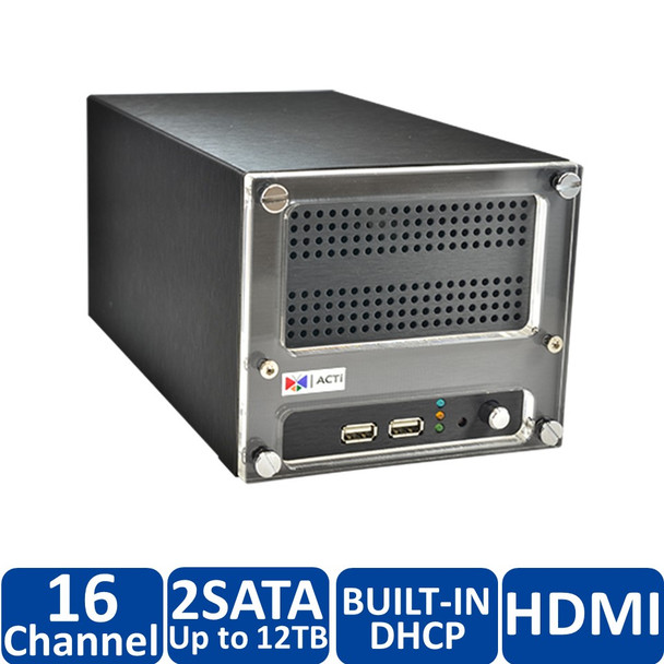 ACTi ENR-130-4TB 16-Channel Desktop Standalone Network Video Recorder - 4TB HDD included