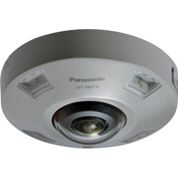 Panasonic WV-X4571L 9MP H.265 360-degree Outdoor Dome IP Security Camera with Intelligent Auto