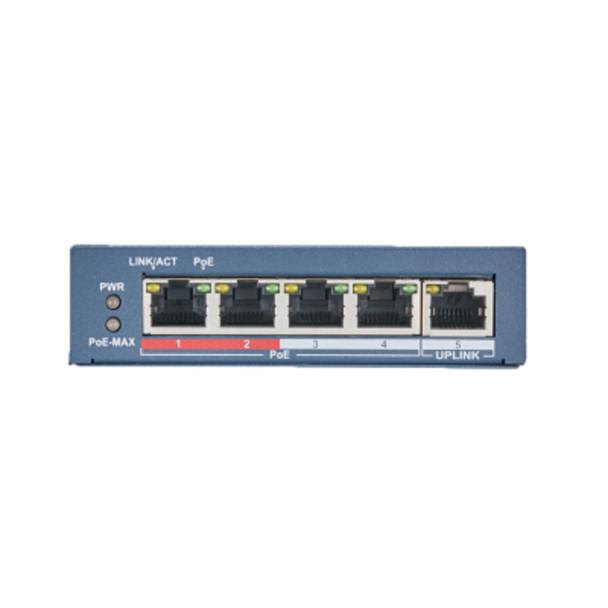 LTS 4 PoE Port Switch with 1 Port Uplink