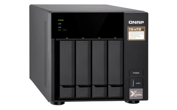 QNAP TS-473-8G-US 4-Bay iSCSI 10GB NAS with 8GB RAM