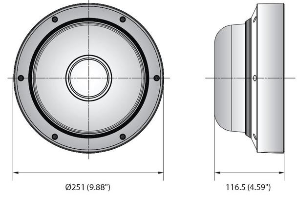 Samsung Hanwha PNM-9084QZ 2MP H.265 Multi-directional PTRZ IP Security Camera Dimensions