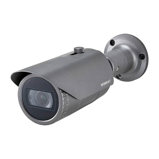 Samsung Hanwha QNO-6082R 2MP H.265 IR Outdoor Bullet IP Security Camera with Motorized Lens