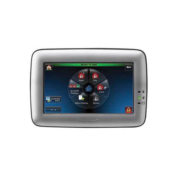 Honeywell TUXWIFIW Tuxedo Touchscreen Security Keypad and Controller with Integrated Wi-Fi Silver
