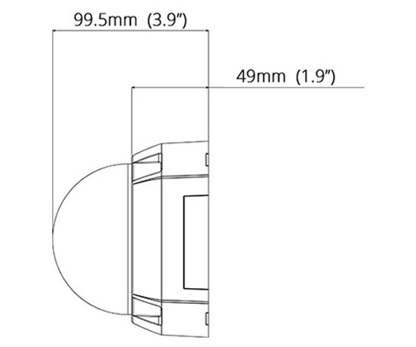 Geovision GV-FD8700-FR 8MP H.265 IR Indoor Dome IP Security Camera 84-FD8700V-R010