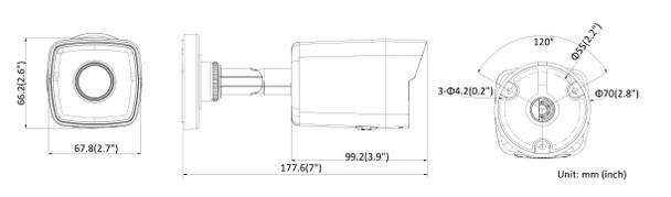 LTS CMIP8022-28M 2MP Matrix IR Outdoor Bullet IP Security Camera with MicroSD Card Slot