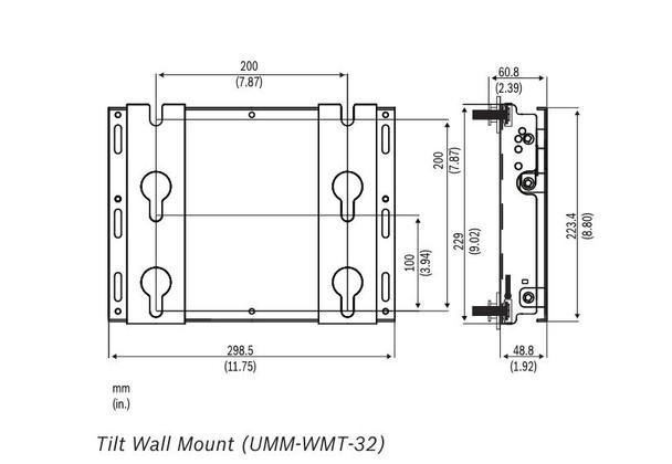 Bosch UMM-WMT-32 Wall mount for  32 inch Monitor (Tilt)
