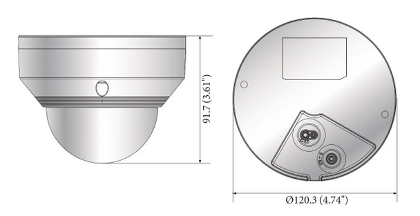 Samsung Hanwha HCV-7020RA 4MP IR Outdoor Dome HD CCTV Security Camera
