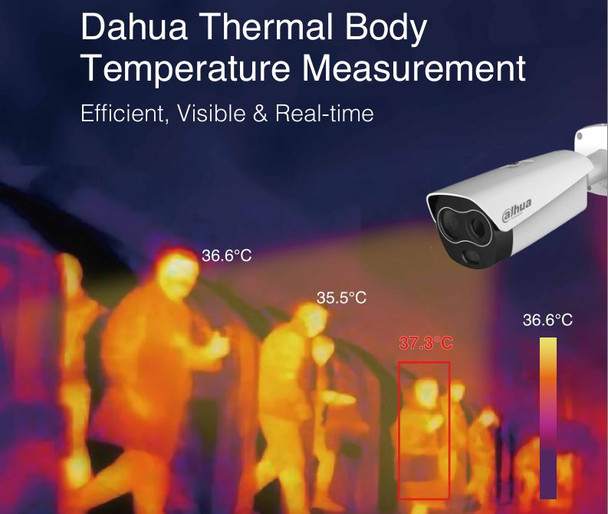 Dahua DH-TPC-BF3221N-TB3F4-HTM Thermal/Visible Hybrid IP Security Camera with Body Temp Measurement