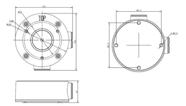 LTS LTB346 Junction Box for Bullet Cameras