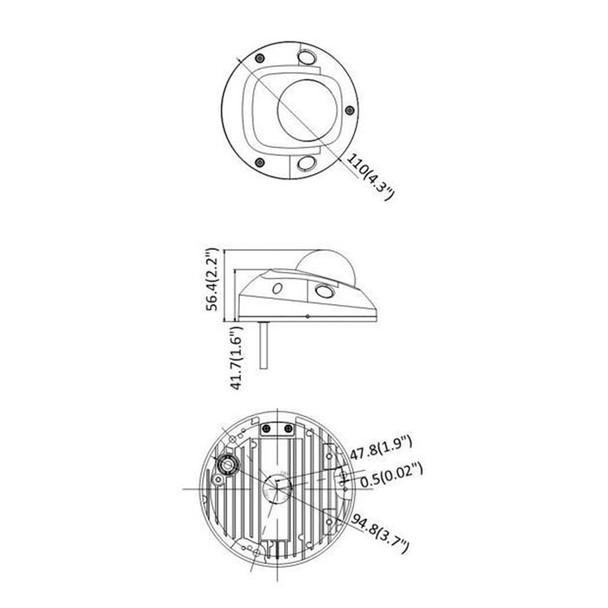 Panasonic Advidia A-45-F 4MP IR H.265 Outdoor Mini Dome IP Security Camera with Microphone