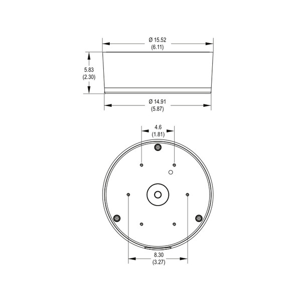 Pelco IBP3BBAP-ES Environmental Surface Mount Back Box and Adapter Plate