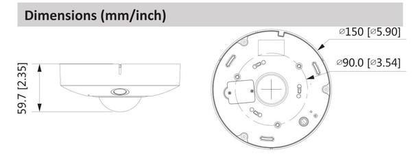 Dahua DH-IPC-EBW81242N 12MP 4K IR Panoramic Fisheye IP Security Camera