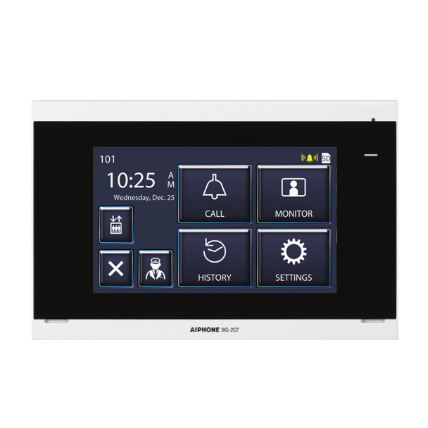 """Aiphone IXG-2C7 IP Video Tenant Station with 7"""" Touchscreen"""