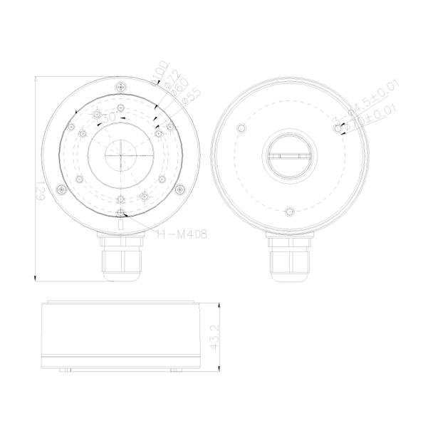 Oculur AMB-JB Universal Junction Box for Mini Bullet Cameras