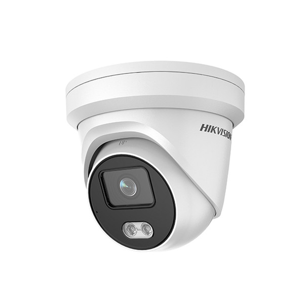 Hikvision DS-2CD2347G1-LU 2.8MM 4MP IR H.265 ColorVu Outdoor Turret IP Security Camera with Built-in Mic