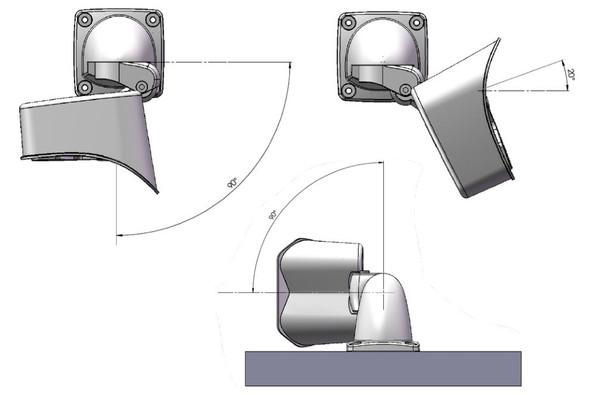 Mobotix Mx-M16TB-R079 M16B Thermografic IP Security Camera with Thermal Radiometry, 50 mK, 45-degree Lens