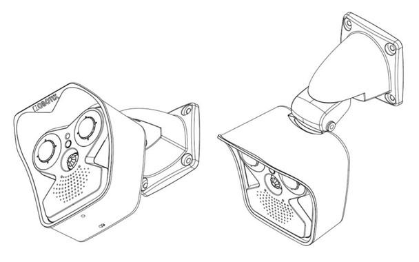 Mobotix Mx-M16TB-T237 Outdoor M16B Thermal IP Security Camera - 50 mK, 17-degree Lens